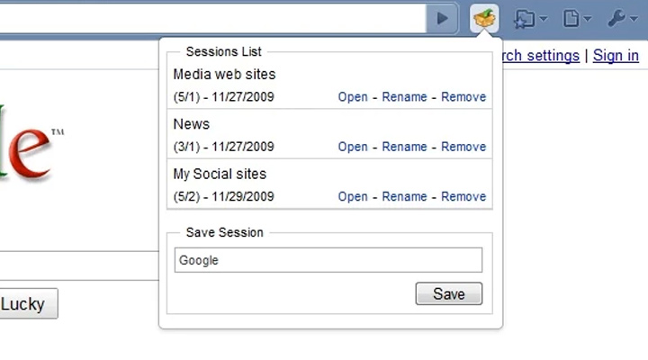 session manager extension chrome google free