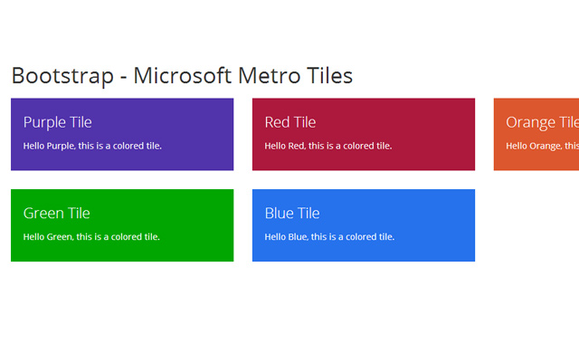 windows metro style css bootstrap code