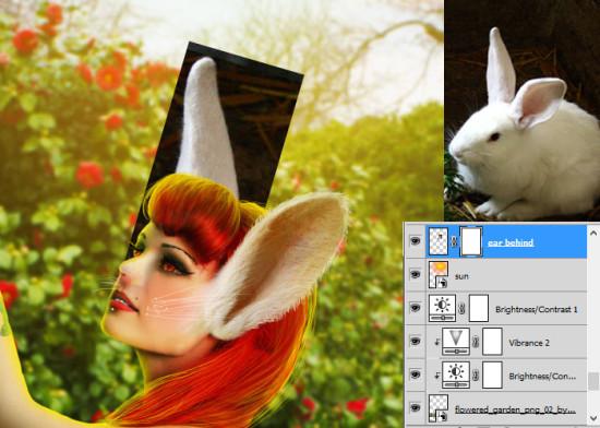 photo manip alice in wonderland 49 550x392 Create Photo Manipulation with Alice in Wonderland Theme in Photoshop