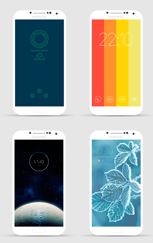 Android PSD lockscreens