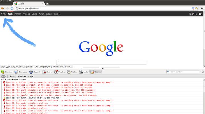 googel chrome extension validity validator html5