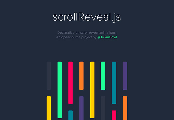 scrollReveal.js – On-scroll reveal animations with JS