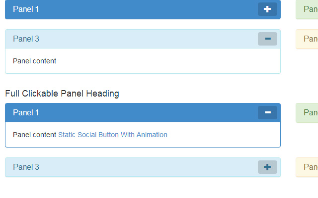 clickable heading panel bootstrap open source
