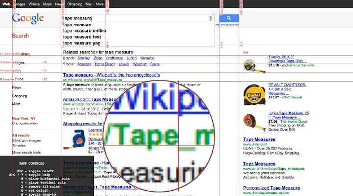 rule rulers tape measure extension chrome