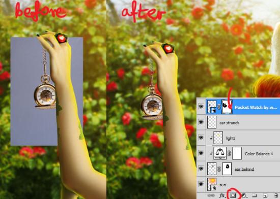 photo manip alice in wonderland 55 550x392 Create Photo Manipulation with Alice in Wonderland Theme in Photoshop