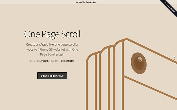 One page scroll – jQuery plugin