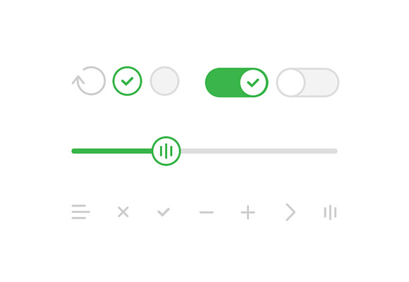 Basic UI iOS7-style elements