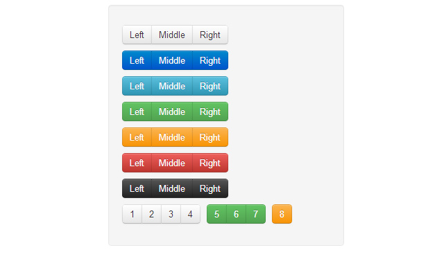 free css updated bootstrap button groups
