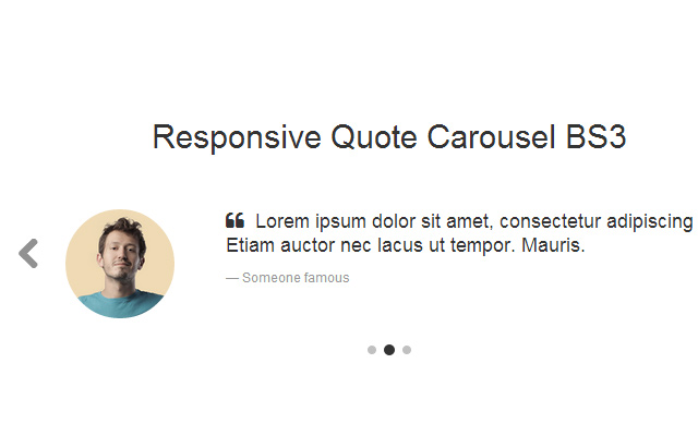 responsive quote carousel bootstrap open source code