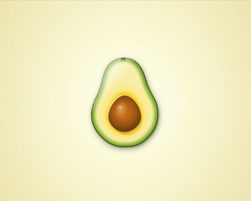 Create an Avocado With Only One Shape in Adobe Illustrator Tutorial