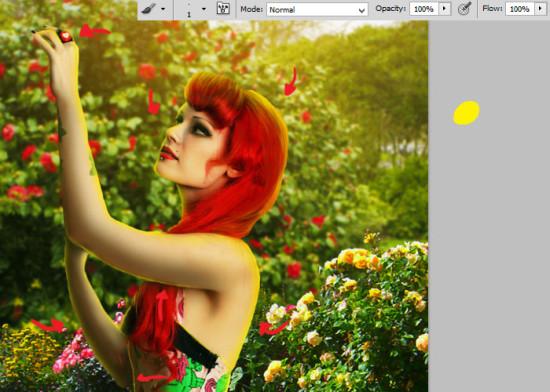 photo manip alice in wonderland 30 550x392 Create Photo Manipulation with Alice in Wonderland Theme in Photoshop