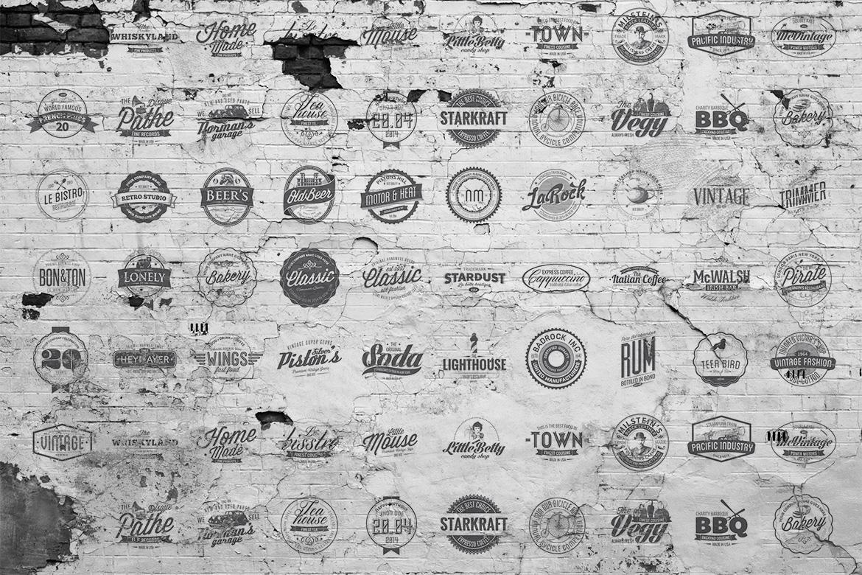 preview o1 13 Vintage Logo Bundles for Your Designs
