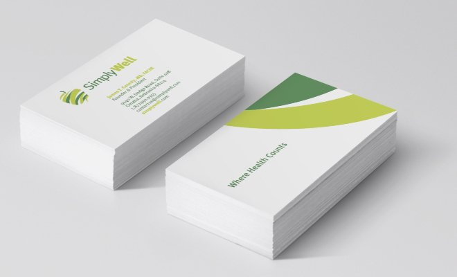 simply well print business card design