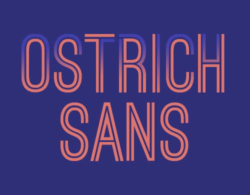 Ostrich Sans Free Fonts