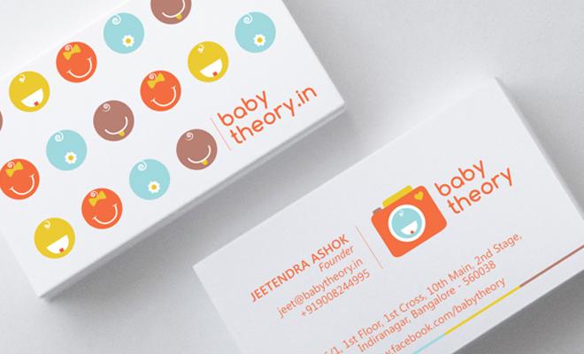 baby theory print branding logo design