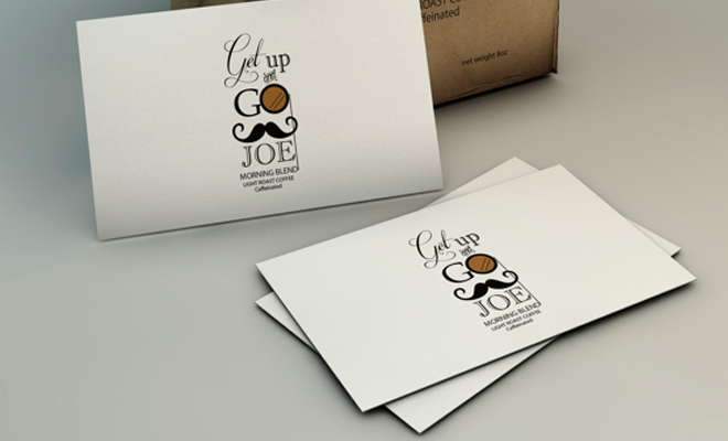 get up and go joe packaging print logo
