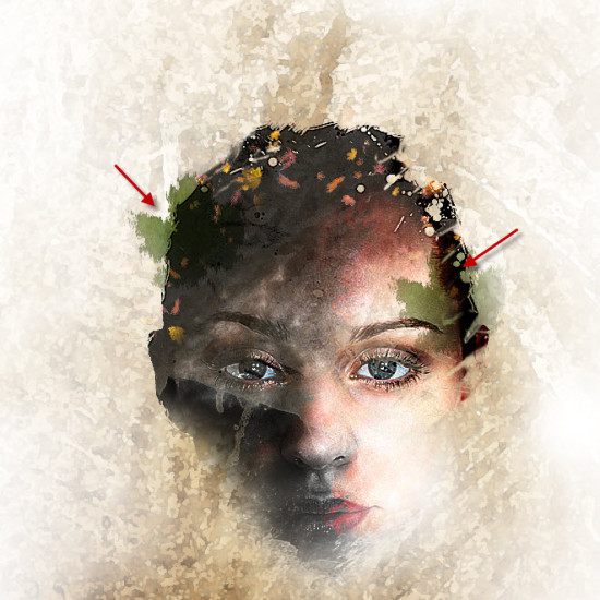 4 effect 550x550 Create Leafy Face Photo Manipulation in Photoshop