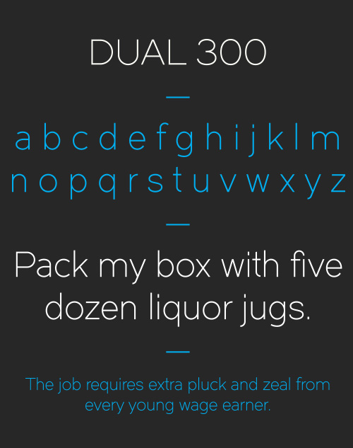 Dual Free Typeface