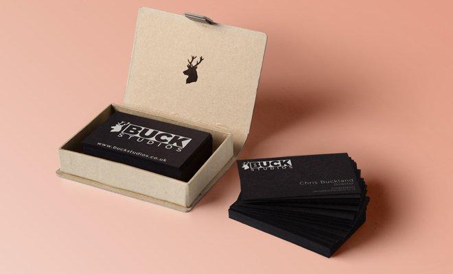 buck studios print brand cards dark