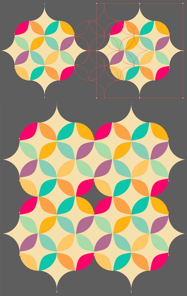how to create a geometric pattern