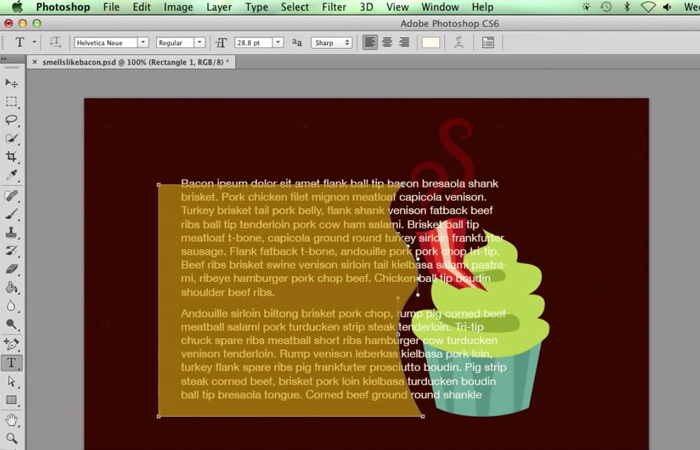 howto shape textfields text photoshop tutorial