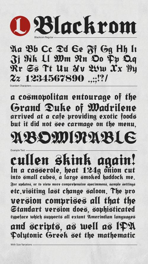 Blackrom Free Typeface