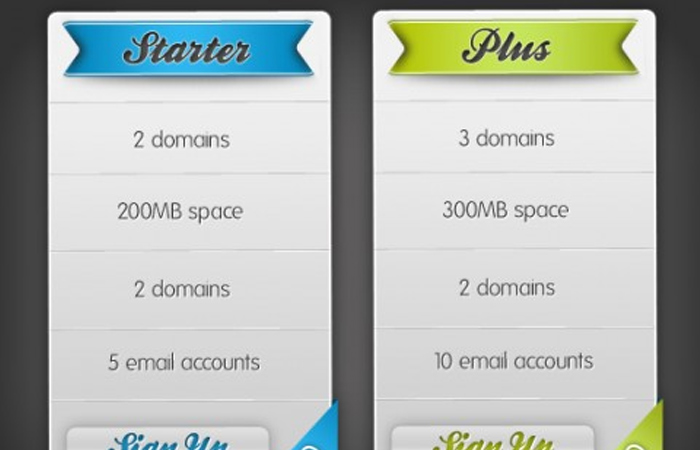 psd howto tutorial photoshop pricing plan tables