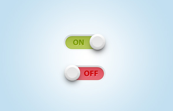 adobe photoshop toggle switch design tutorial
