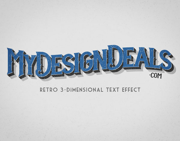 How to Create a Retro, 3-Dimensional Text Effect in Photoshop