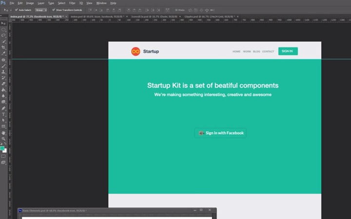flat ui tutorial howto photoshop design tuts designmodo