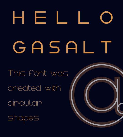 Gasalt Free Fonts
