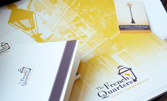 the french quarters print branding design