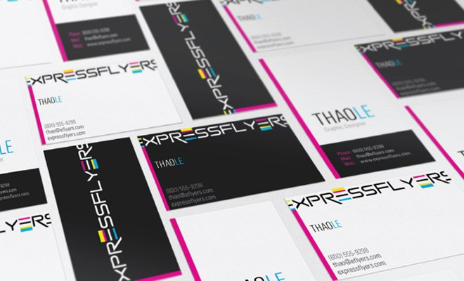express flyers design branding logotype business cards