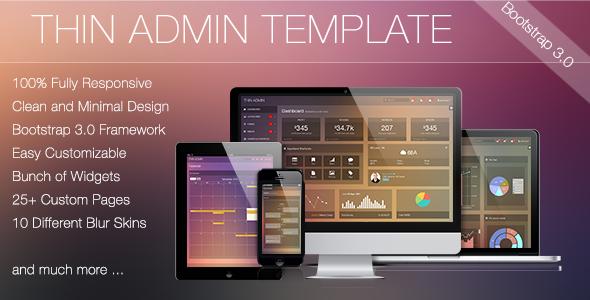 Thin Admin Template