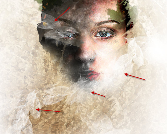 5 line 550x443 Create Leafy Face Photo Manipulation in Photoshop