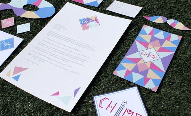 chime logo print branding design