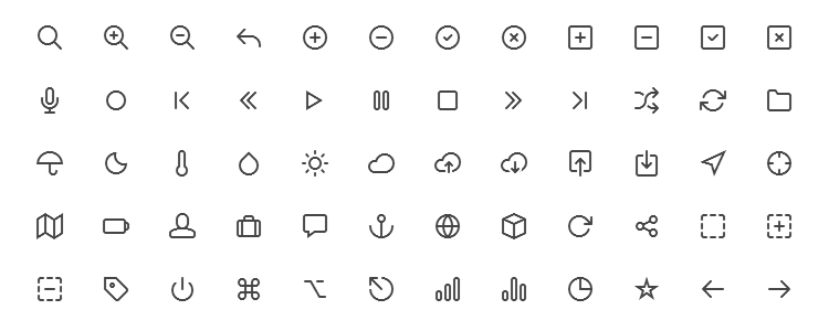 Feather Icon Set is A Beautifully Simple Icon Font with 130 Icons