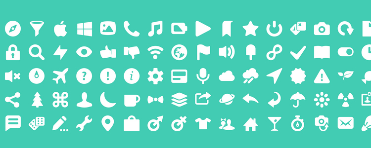 The Icony Icon Font with 100 Icons