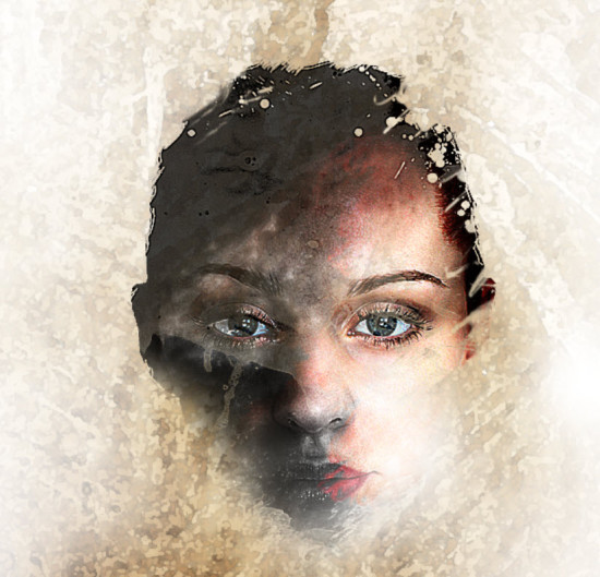 2 effect 550x529 Create Leafy Face Photo Manipulation in Photoshop
