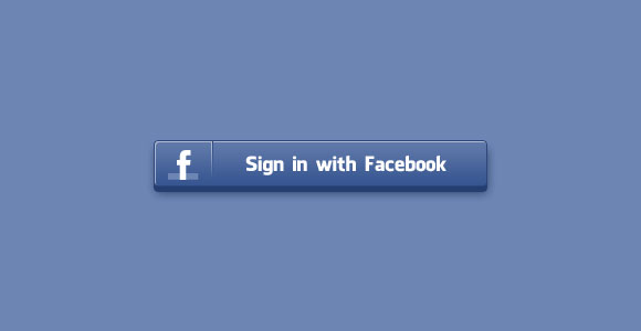 Sign in Facebook PSD button