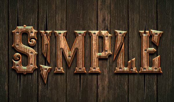 Simple way to creat a wooden text with photoshop cs6