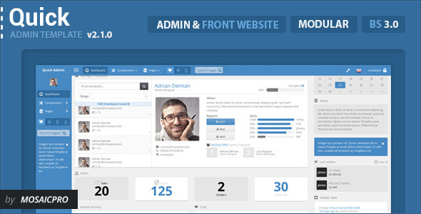 20 Professional HTML Admin Templates - iDevie
