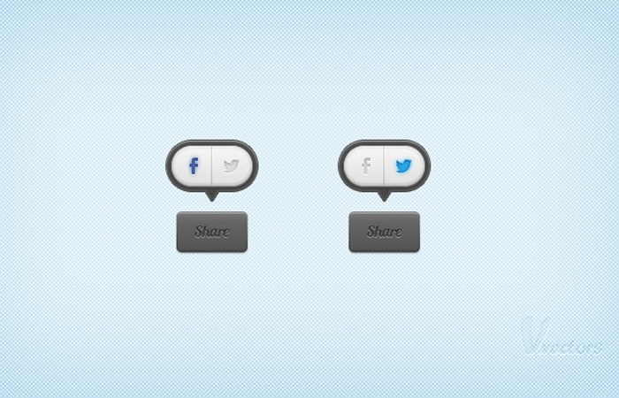 social share icons buttons photoshop