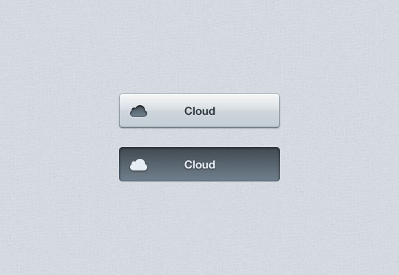 PSD cloud Button