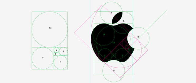 Proportion and Composition from the apple logo ratio