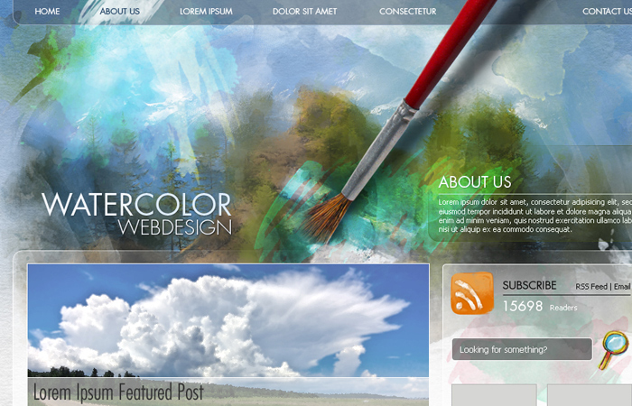 photoshop mockup design tutorial watercolor website