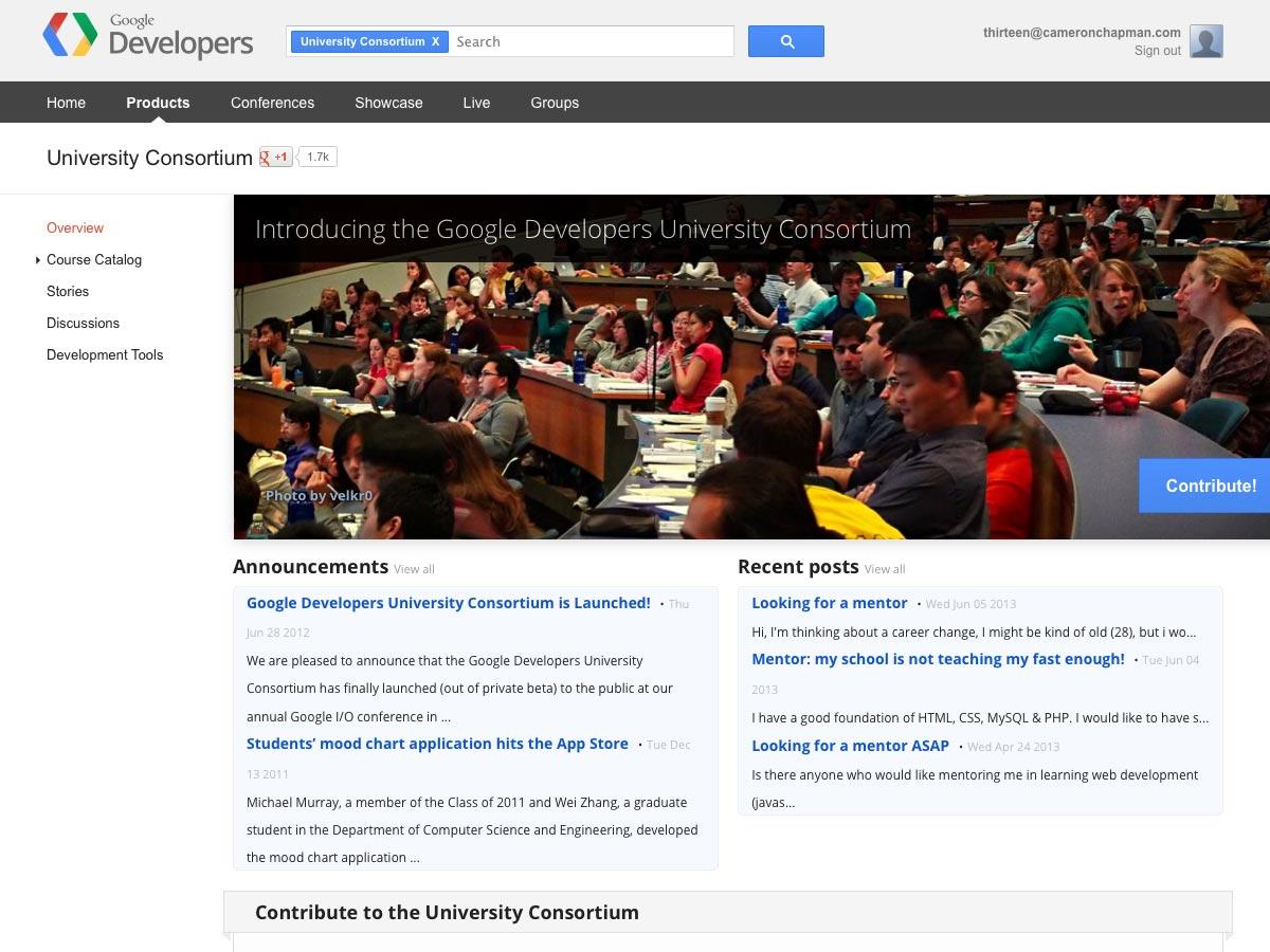 Google Developers University Consortium