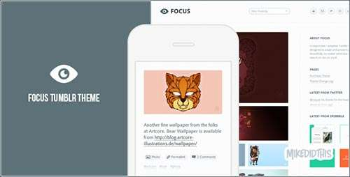 Focus - A Minimalistic Tumblr Theme