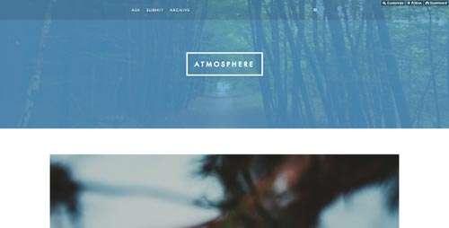 Atmosphere Theme for Tumblr