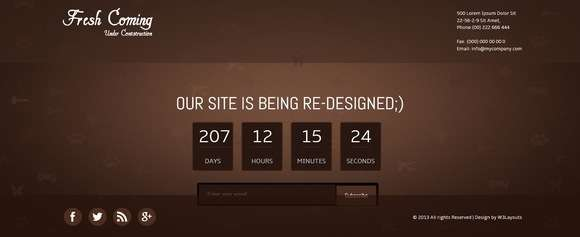 20 Free Coming Soon Under Construction Templates
